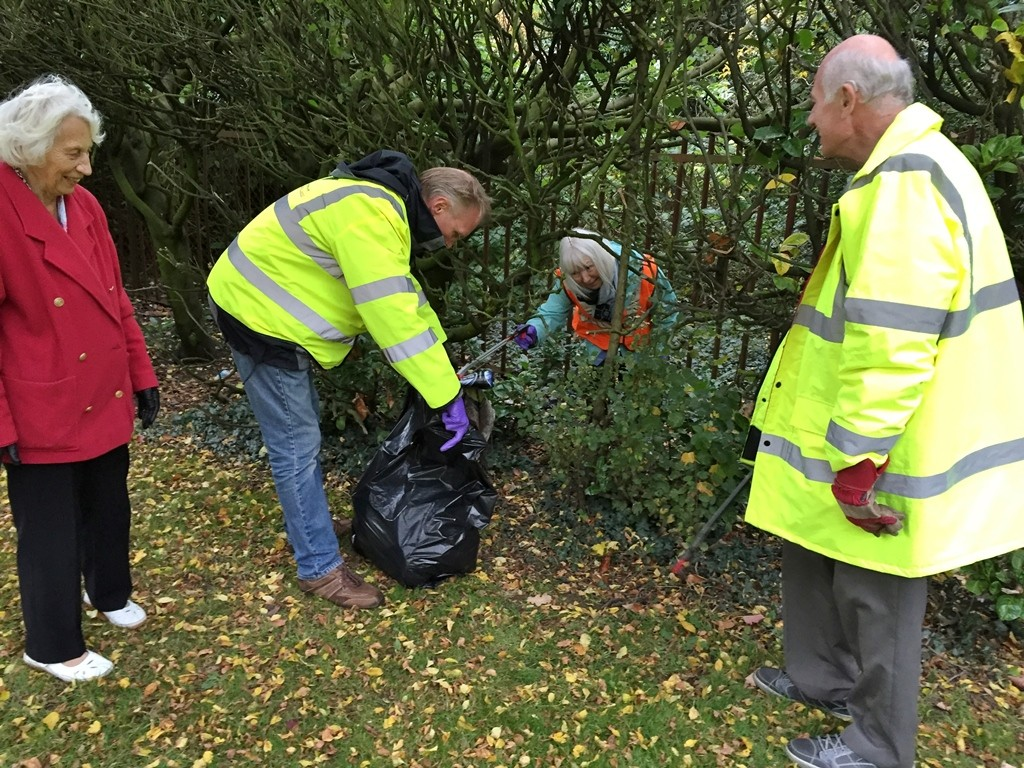 Lib Dem Team Collecting Litter in Lyndon